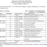 HPU Datesheet of B.Ed. and M.Ed 1st & 3rd Semester examination to be held in February, 2019