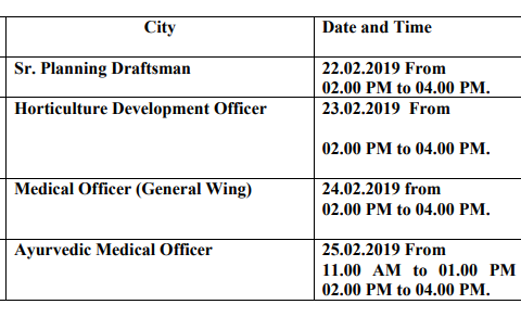 Himachal Pradesh Public Service Commission will conduct Computer Based Test (CBT) for recruitment to various posts in various Departments as per detail 22-02-2019 To 25-02-2019