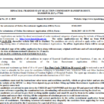 HPSSC Advertisement No. 35-1 of 2019 inviting Online Recruitment Applications for various posts. Opening date 05-03-2019