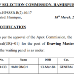 HPSSC|HPSSSB waiting panel for the post of Language Teacher/Drawing Master (Post code-637) NEW
