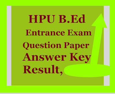 HPU Bed Entrance Exam Answer Key 2020