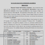HPSSC POST CODE 627 declared the final result for the recruitment