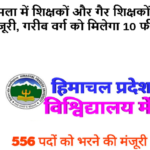 HPU Shimla approved to fill 556 posts