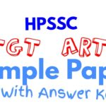 HPSSC TGT Art Sample Paper 2020
