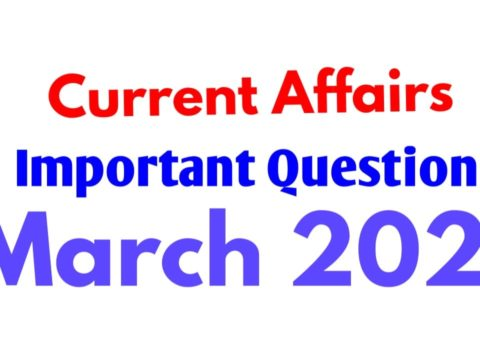Current Affairs Important Questions 28 March 2020