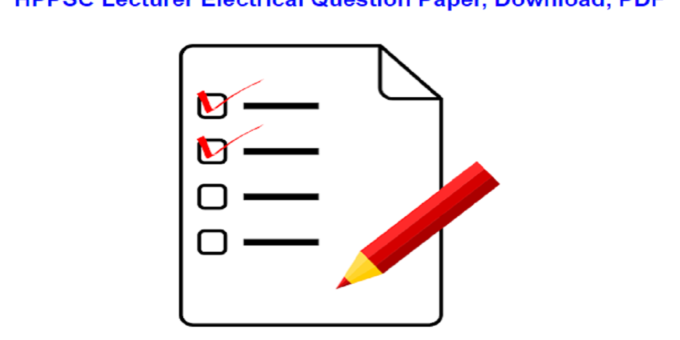 HPPSC Lecturer Electrical Question Paper, Download, PDF