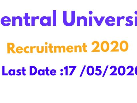 Central University Recruitment 2020 Apply Now