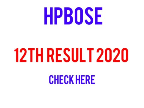 HPBOSE 12th Result 2020 Exam Results Announced