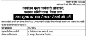 HP Panchayti Raj Department Recruitment 2020 Himachal Pradesh 05