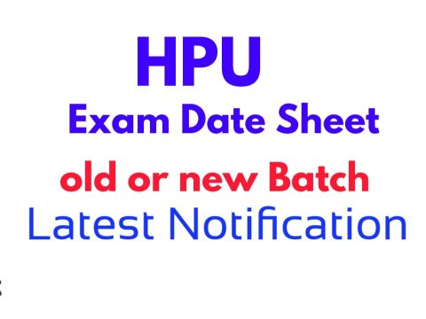 HPU Date-sheet of B.A/B.Sc./B.Com 2nd & 4th & 6th Re-appear (Old Batch) Semester examination to be held in August, 2020