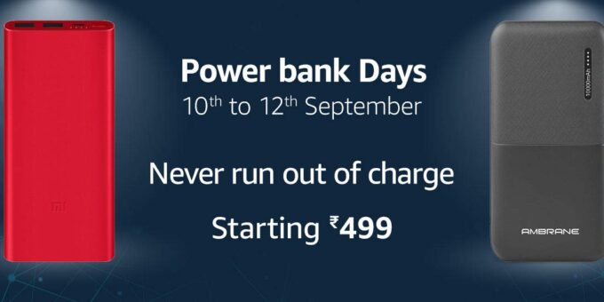 Power Bank Days 10 to 12 September Starting 499