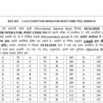 HPSSC Official Answer Key 2020 Computer Operator Post Code-753