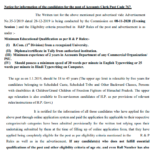 HPSSC Notice for information of the candidates for the post of Accounts Clerk Post Code 767