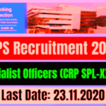 IBPS Specialist Officer X Recruitment 2020 – Apply