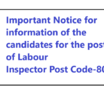 HPSSC information of the candidates Post of Labour Inspector Post Code-805