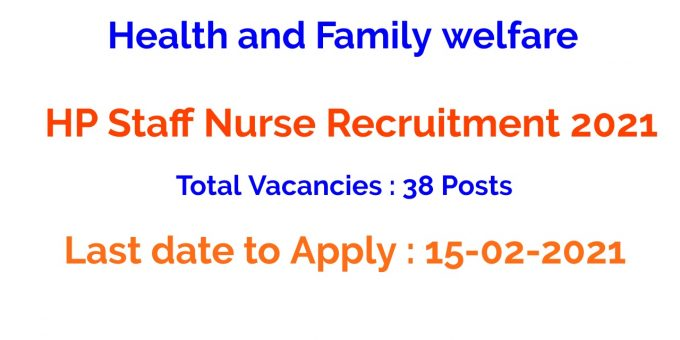HP Staff Nurse Recruitment 2021
