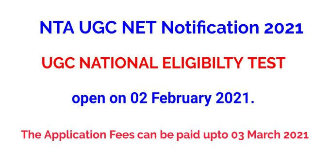 NTA UGC NET Notification 2021