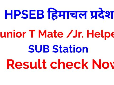 HPSEB Junior T Mate Result 2021