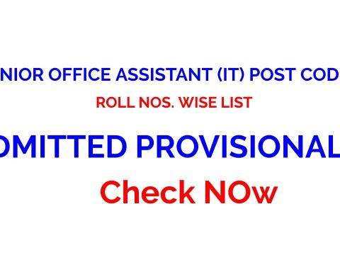 HPSSC ROLL NOS. WISE LIST OF THE CANDIDATES JUNIOR OFFICE ASSISTANT (IT) POST CODE-817