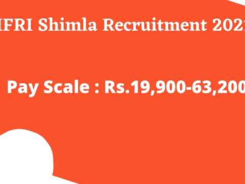 HFRI Shimla Recruitment 2021