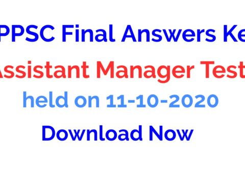 HPPSC Final Answers Key Assistant Manager Test 2021 | held on 11-10-2020