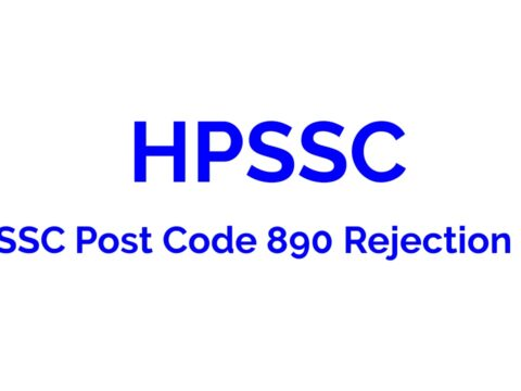 HPSSC Post Code 890 Rejection list